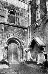 Romsey, Abbey, The Norman Door 1899