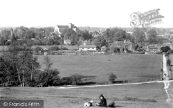 Romsey, The Abbey From Greenhill 1932