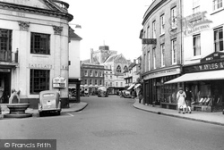 Romsey, The Abbey From The Hundred c.1955