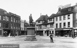 Romsey, The Palmerston Monument 1898