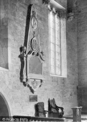 Ross-on-Wye, Church Interior, Kyrle Memorial c.1955