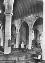 Ross-on-Wye, St Mary's Church Interior 1938