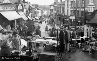 Ross-on-Wye, the Market in Broad Street c1955