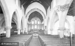 Rothbury, All Saints Church, Interior c.1960