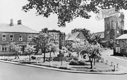 Rothbury, Armstrong Cross And All Saints Church c.1955