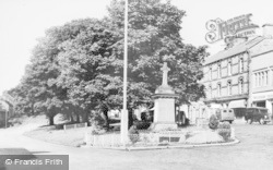 Rothbury, Memorial And Front Street c.1955
