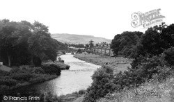 Rothbury, River Coquet From The Tennis Courts c.1955