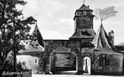 Castle Gate c.1930, Rothenburg