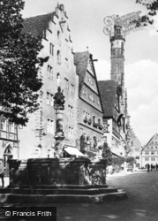 Fountain And Well c.1930, Rothenburg