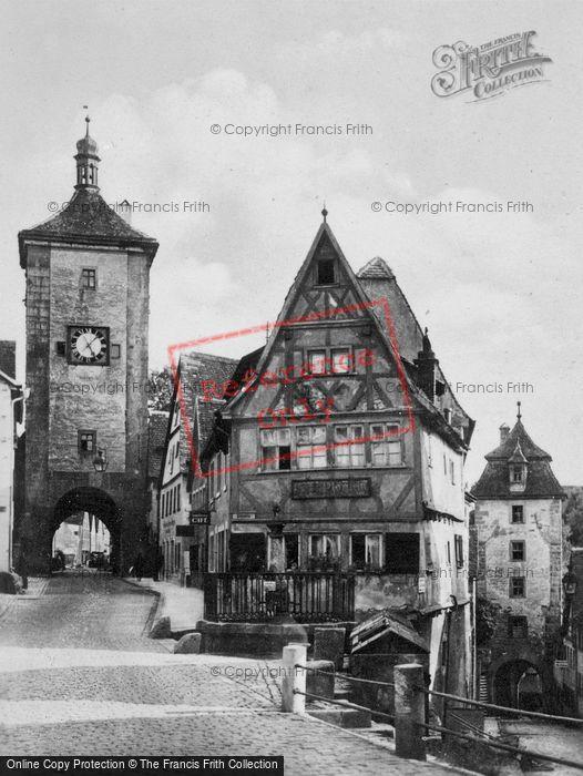 Photo of Rothenburg, Plonlien Street c.1930