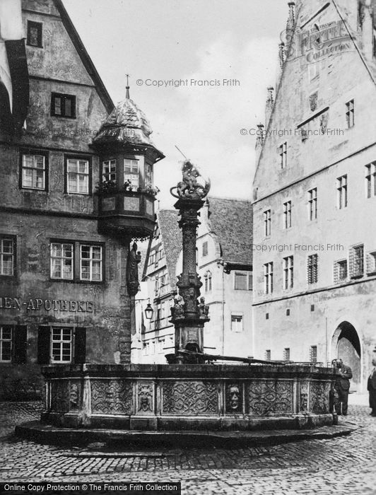 Photo of Rothenburg, St George's Fountain c.1930