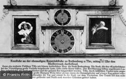 The Famous Clock c.1930, Rothenburg