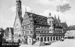 The Town Hall c.1930, Rothenburg