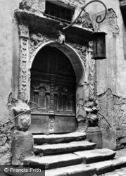 The Town Hall Door c.1930, Rothenburg