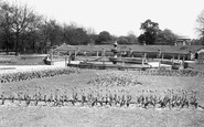 Rotherham, The Memorial Gardens, Clifton Park c.1955