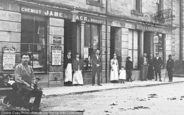 Photo of Rothes, High Street Shops 1901