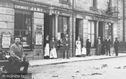 Rothes, High Street Shops 1901