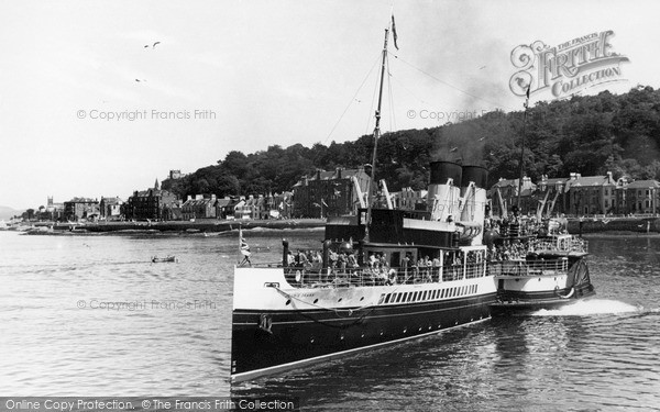 Photo of Rothesay, Departure Of Glasgow Steamer 'jeanie Deans' c.1955