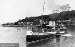 Departure Of Glasgow Steamer 'jeanie Deans' c.1955, Rothesay