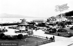 Rothesay, Gardens And Pier 1904