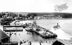 Rothesay, Pier And Steamer 1904
