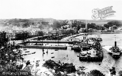Rothesay, Pier And Steamers 1904