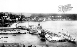 The Pier And Steamers From Chapel Hill 1900, Rothesay