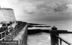 Rottingdean, Cliff And Groyne c.1950