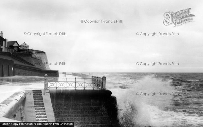 Photo of Rottingdean, Rough Sea c.1965
