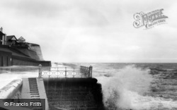 Rottingdean, Rough Sea c.1965