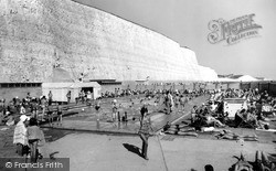 Rottingdean, The Cliffs And Swimming Pool c.1965