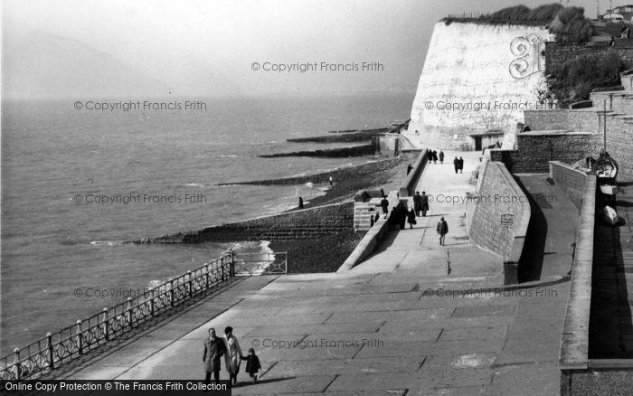 Photo of Rottingdean, Undercliff Walk c.1965