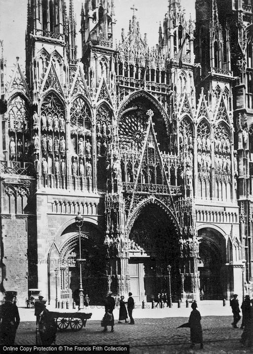 Photo of Rouen, Cathedral, Entrance c.1930