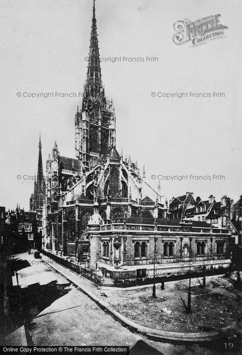 Photo of Rouen, église Saint Maclou From North West c.1930