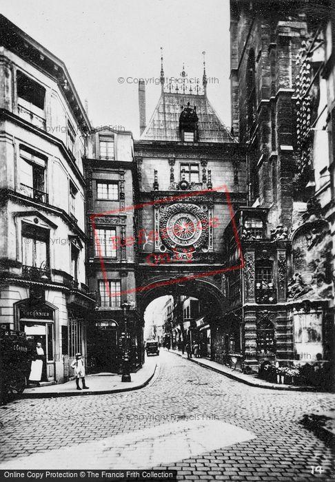 Photo of Rouen, Gros Horloge c.1930