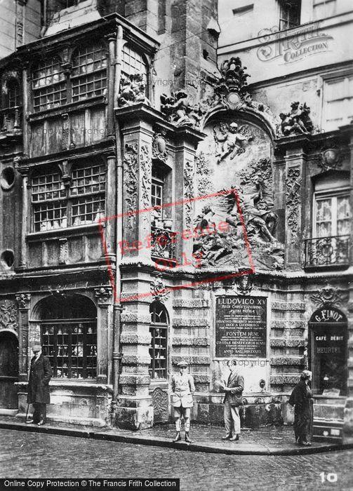 Photo of Rouen, Gros Horloge Fountain c.1930