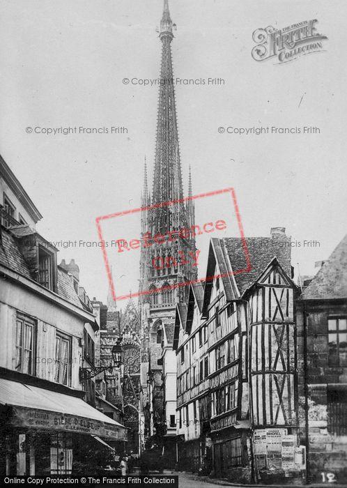 Photo of Rouen, Rue D'epicerie c.1930