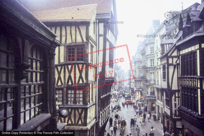Photo of Rouen, Rue Du Gros Horloge 1983