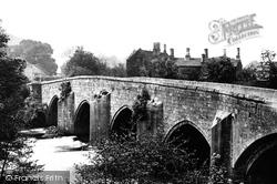 Bridge And Peacock Inn c.1870, Rowsley