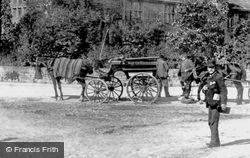 Carriage Outside The Peacock Inn 1886, Rowsley
