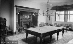 Rowton, The Billiard Room, Rowton Hall Hotel c.1955