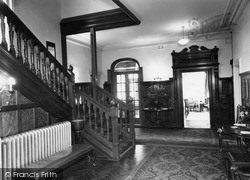 Rowton, The Inner Hall, Rowton Hall Hotel c.1955