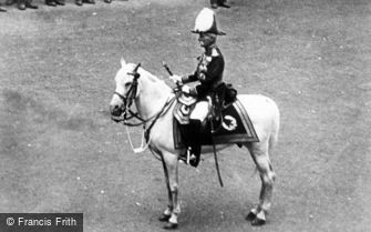 Royalty, a Mounted Guard c1900