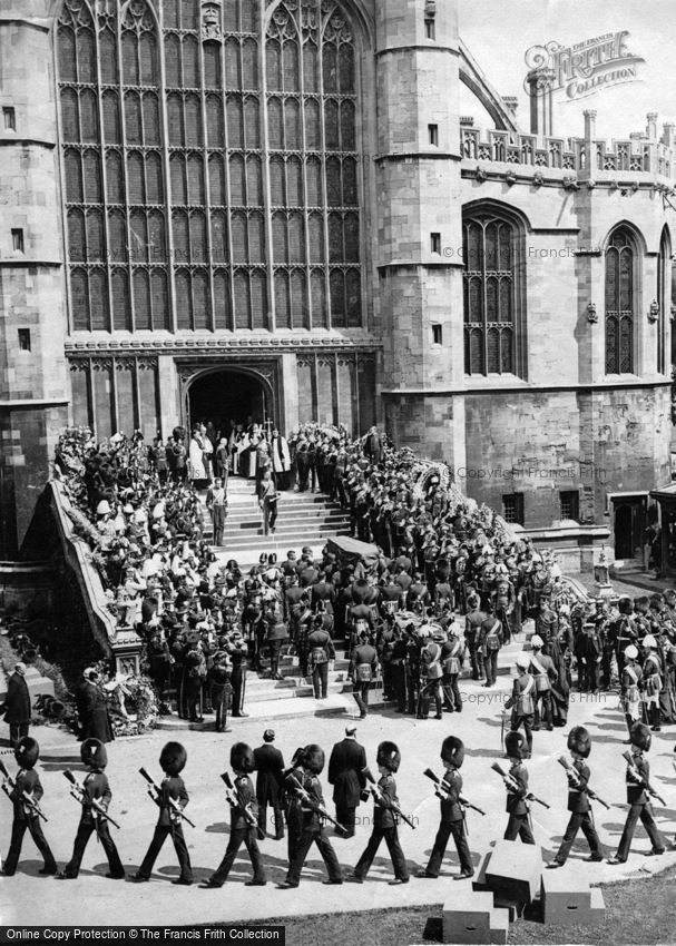 Royalty, Funeral Procession of King Edward VII at Windsor Castle 1910