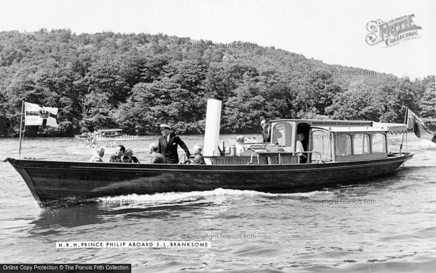 Royalty, HRH Prince Philip aboard S.L.Branksome c1955