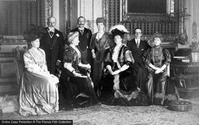 Photo of Royalty, King Edward Vii And European Royalty 1907