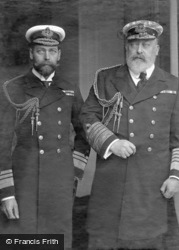 King Edward Vii And Prince Of Wales In Uniform c.1905, Royalty