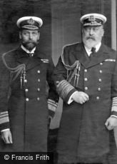 Royalty, King Edward VII and Prince of Wales in uniform c1905