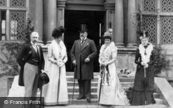 King Edward Vii And Queen Alexandra Visiting The Treasurer's House, York c.1905, Royalty