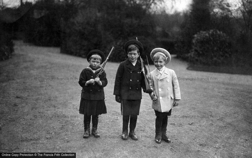 Royalty, Prince George of Wales, Olaf and Prince John 1908